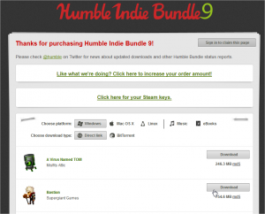 Humble Indie Bundle 9 (pay what you want and help charity) - Mozilla Firefox