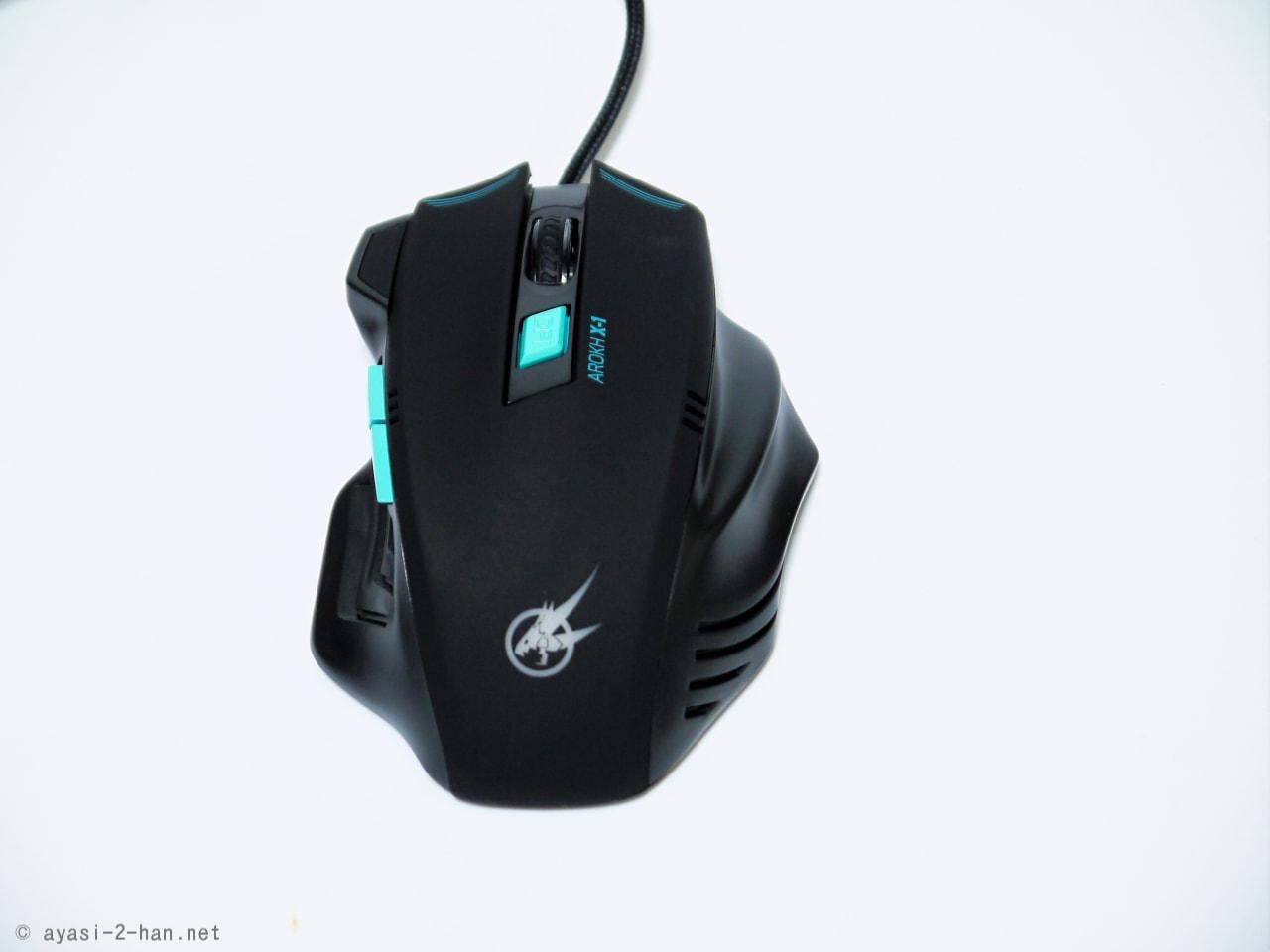 [PR]かぶせ持ちでのグリップ感がスゴい! ゲーミングマウス「AROKH X-1」の感想とか。
