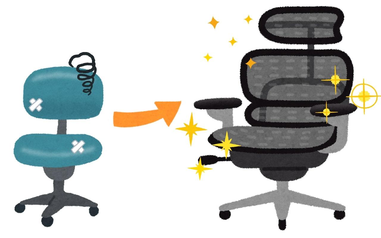 いま使ってるPC作業用の椅子がもう虫の息で新しくしたいと思ったので予算3万円くらいで良さそうなモノをまとめておきました。