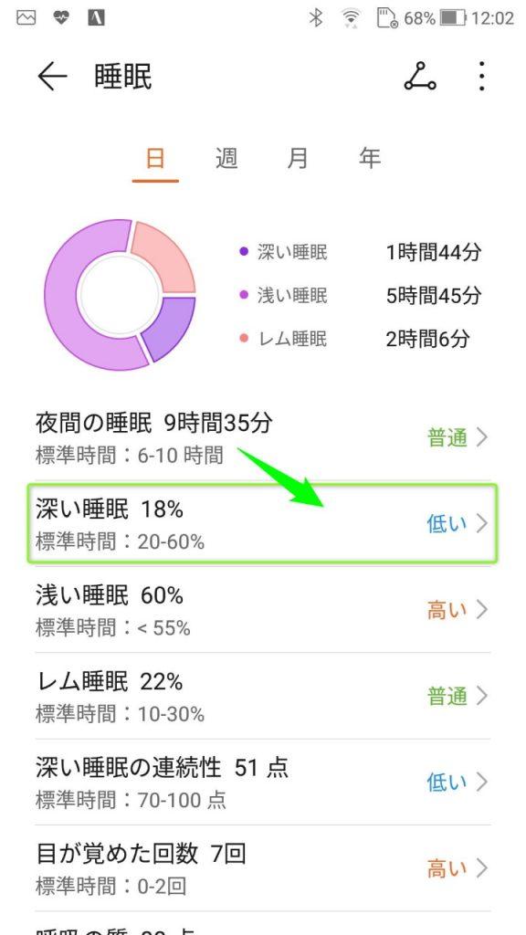 HuaweiWatchGT_TruSleepResultChart