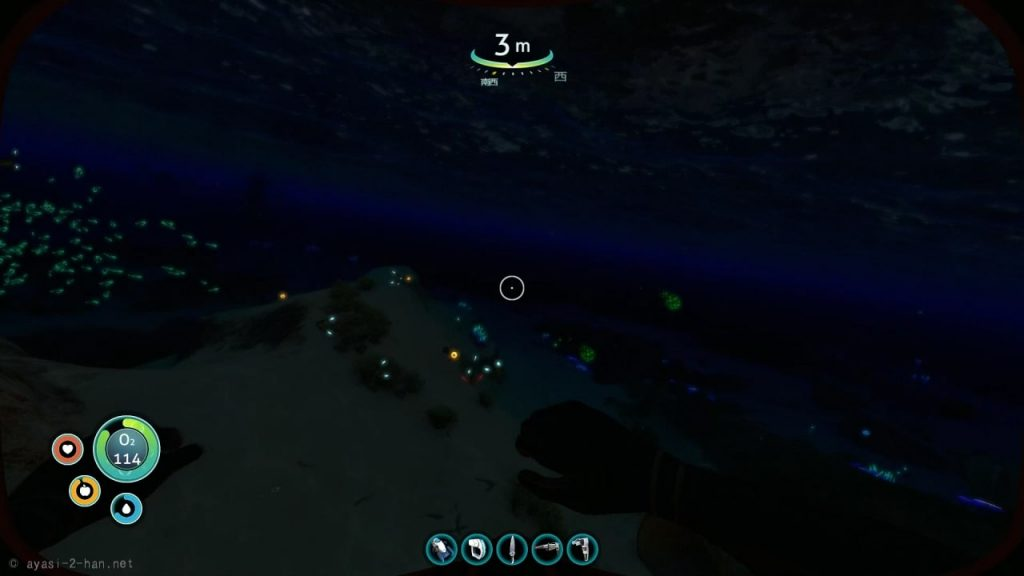 Subnautica_shallow_waters_night